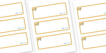 Lion Cub Themed Editable Drawer-Peg-Name Labels (Blank) - Themed Classroom Label Templates, Resource Labels, Name Labels, Editable Labels, Drawer Labels, Coat Peg Labels, Peg Label, KS1 Labels, Foundation Labels, Foundation Stage Labels, Teaching Lab