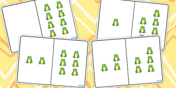 Green Frog Counting Number Bonds to 8 - number, bonds, counting
