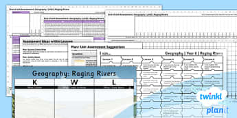 Geography: Raging Rivers Year 6 Unit Assessment Pack
