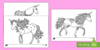 Unicorn Mindfulness Colouring Sheets English/Portuguese - Unicorn Mindfulness Colouring Sheets - unicorn, mindfulness, colouring, sheets, colour,mindfullness,