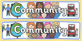 Community Display Banner - community, banner, display, header