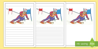 Winter Olympics Writing Frames - winter, olympics, writing, write