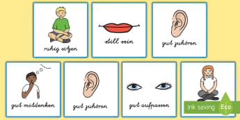 Good Listening Cards German - german, good listening, cards, good, listening