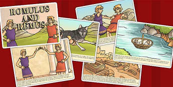 Romulus and Remus Story Cards - romans, rome, roman stories, card