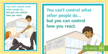 Control Your Own Actions A4 Display Poster - Control, Actions, Behaviour, Poster, Classroom management