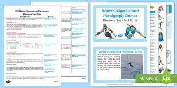 EYFS Winter Olympics and Paralympics Discovery Sack Plan and Resource Pack - Winter Sports, PyeongChang 2018, Discover, Explore, Facts, Information.