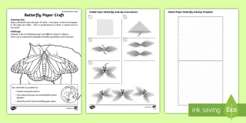 Origami Butterfly Paper Craft Activity - Amazing Fact Of The Day, activity sheets, powerpoint, starter, morning activity, June, KS1, year 1,