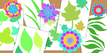 Botanical Craft Cut Out Shapes - crafts, cutting skills, cutouts