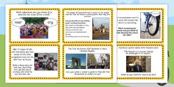 Tour de France Literacy Challenge Cards - le tour, activity cards