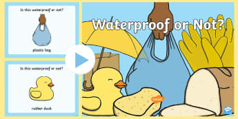 Waterproof or Not PowerPoint - Waterproof or Not Display Posters - Waterproof, poster, display, banner, sign, non-waterproof, not w