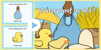 Waterproof or Not PowerPoint - Waterproof or Not Display Posters - Waterproof, poster, display, banner, sign, non-waterproof, not w