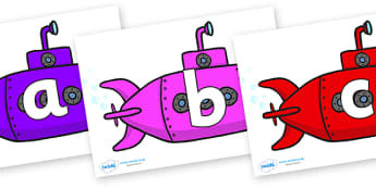 Phoneme Set on Submarines - Phoneme set, phonemes, phoneme, Letters and Sounds, DfES, display, Phase 1, Phase 2, Phase 3, Phase 5, Foundation, Literacy