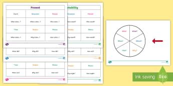 Question Matrix - questions, question words, question games, game