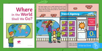 Exploring My World - Where in the World Shall We Go? eBook - the travel agents, aistear, travel, holiday, travel agency, brochure, story, book,