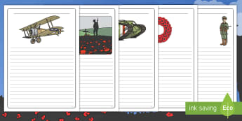 Remembrance Day Writing Frames Pack - poppy day, memorial, soldiers, remember, EYFS, KS1