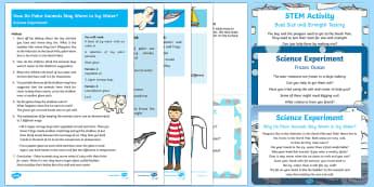EYFS Science Experiments Resource Pack to support teaching on Lost and Found - Lost and Found, Oliver Jeffers, polar regions, penguin, lost penguin, science experiments