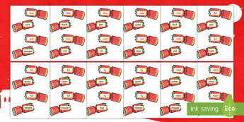 KS1 Christmas Cracker Suffix Game - Suffixes, Year 2, matching, xmas, Spag, root words