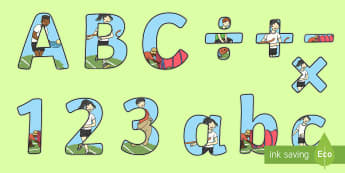 Sports Day Themed Display Lettering - sports day, lettering, display, titles, letters, fonts, sports, day, children, sport