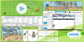 Twinkl Move - Year 3 Gymnastics: Shape Unit Pack - Y3, KS2, PlanIt, PE, physical education, year three, year 3, indoor PE, movement, apparatus