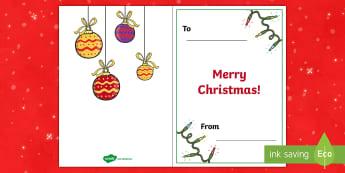 A5 Christmas Card Inserts - xmas, Greetings, handmade card, insert, christmas message, KS1, writing template, card template
