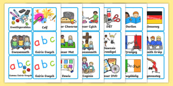 Visual Timetable for KS1 Welsh - welsh, visual timetable, ks1, wales, visual, timetable