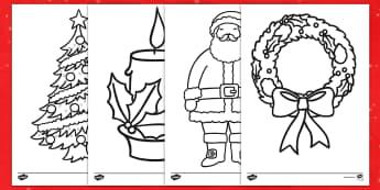 Christmas Coloring Activity - Christmas, art, coloring, activity, creativity, posters