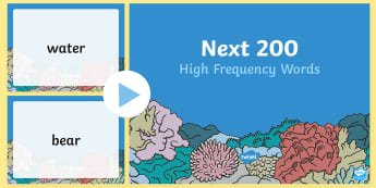 Next 200 High Frequency Words  PowerPoint - 100 High Frequency Words Presentation - 100, high frequency, high frequecy words, high frquency word