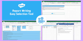 Report Writing Easy Selection Tool Video - reports, Report Writing, Bank of Statements, End of Year,