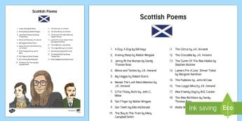 Scottish Poetry for Kids Adult Guidance - CfE Literacy, poems, ideas, Robert burns, burns, Scottish poems, Scottish poetry, scots, ,Scottish