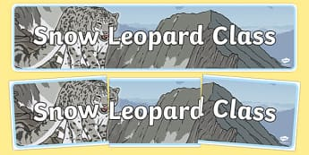 Snow Leopard Class Display Banner - snow leopard, class, display banner, display, banner, snow leopard class