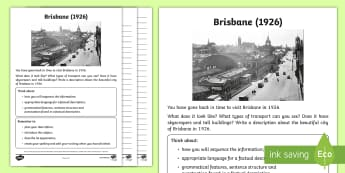 People and Places - Factual Description Set 3 Writing Stimulus Picture - People and Places, Geography, English, Writing, Factual Description, queensland, descriptive writing