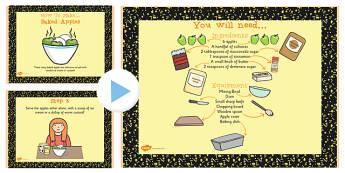 Baked Apple Recipe PowerPoint - Baked, Apple, Recipe, Food