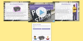 Should Prisoners Be Allowed to Vote in an Election? Debate Pack - jail, vote, discussion, general, election, ks3