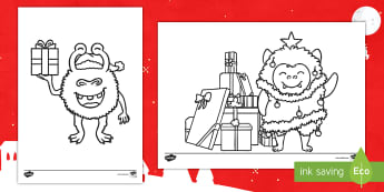Christmas Alien Colouring Pages -  KS1, Key Stage One, Space, Aliens, Festive, Themed, December, Winter