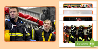 Firefighters Display Photos - Firefighter, fire, fire engine equipment, ladders, hose, fire engine, Uniform, protective clothing, helmet, boots, jacket