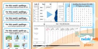 Y1 Term 2B Bumper Spelling Pack - Spellings Year 1, spellings,