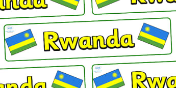 Rwanda Display Banner - Rwanda, Africa, display, banner, sign, poster, country, world, East Africa