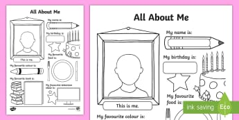 All About Me Activity Sheet - All About Me Activity Sheet - Back to School, Beginning of School, Back to School, Beginning of Scho