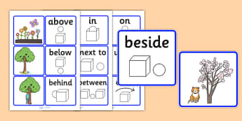 Preposition Matching Picture Cards - SEN, visual aid, position, prepositions