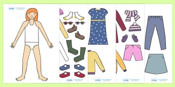 Seasonal Clothing Dressing Up Activity (Girls) - Clothing, dressing up, dressing, activity, girls, seasonal, creative, dress, trousers, clothes, what to wear, wear, shirt, jacket