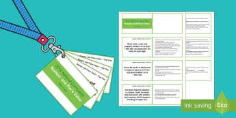 Lanyard Sized Year Five Number and Place Value Objectives Cards - Year 5, year five, y5, objectives, number and place value, number objectives, lace value objectives,