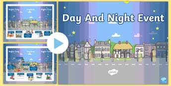 Day and Night Event PowerPoint - Day and Night Event Activity - Light and Dark, activity, events, science, day, night, shadow, reflec