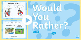 Would You Rather...? PowerPoint Game - end of year, end of term, game, quiz, holiday, end of school,Australia