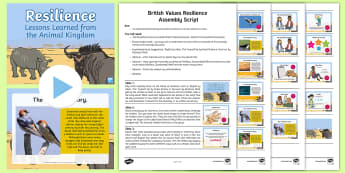 British Values Resilience Assembly Pack - growth mindset, swallow, positivity, PSHE, perseverance