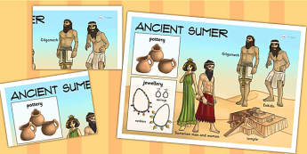 Ancient Sumer Large Display Poster - sumer, mesopotamia, poster