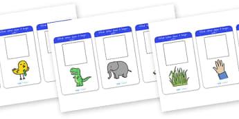 Alphabet Activity Cards Name the Image - alphabet, a-z, literacy