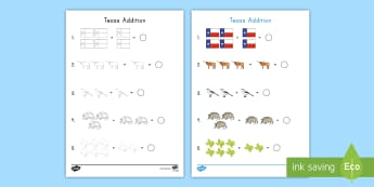 Texas Addition Activity Sheet - texas state symbols, adding,  Number Formation, worksheet, basic addition, 1 to 10, visual recogniti