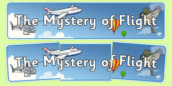 The Mystery of Flight Display Banner - the mystery of flight, display banner, display, banner, mystery, flight