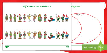 Elf Venn and Carroll Diagram Activity - christmas, festive, maths, information handling, data handling, ,Scottish