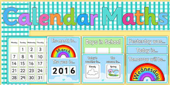 Ready Made Calendar Display Pack - EYLF, early years, calendar, display, classroom management, maths, back to school, classroom setup ,